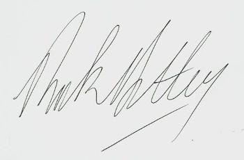 автограф Рика Эстли