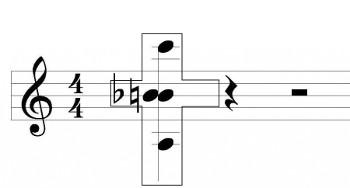 нотный символ Бах