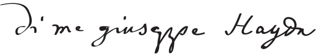 подпись Гайдна
